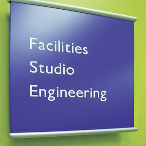 wall-mounted signage plate
