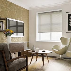 electric blinds / Venetian / fabric / wooden