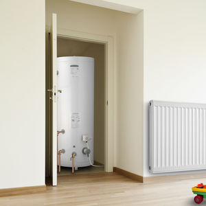 electric water heater / free-standing / vertical / indirect