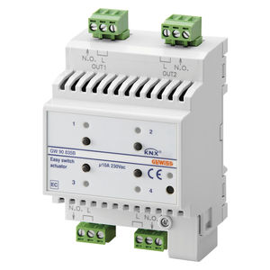 KNX switch actuator / for home automation systems / DIN rail / home