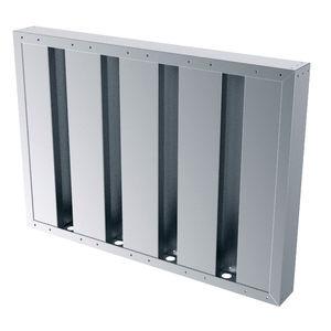 galvanized steel ventilation grill / aluminum / stainless steel / square