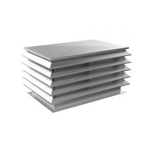 galvanized steel ventilation grill / aluminum / stainless steel / rectangular