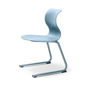 contemporary chair / cantilever / upholstered / 100% recyclable