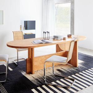 contemporary table / oak / solid wood / walnut