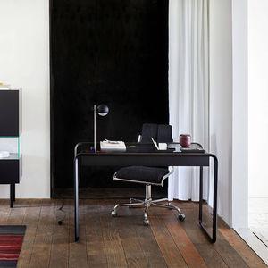 oak desk / wood veneer / walnut / contemporary
