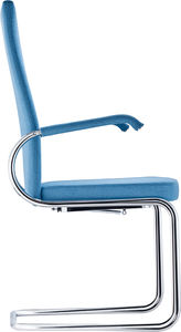 contemporary chair / upholstered / with armrests / cantilever