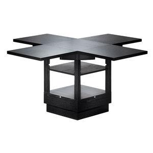 Bauhaus design table / ash / wood veneer / painted wood