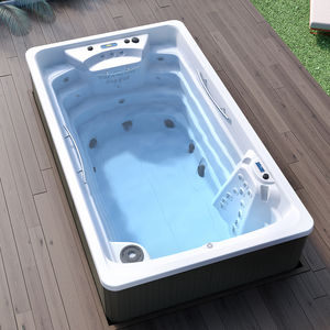 built-in swim spa / above-ground / rectangular / 1-person