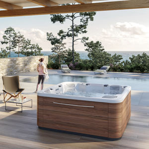 above-ground hot tub / square / 5-person / outdoor