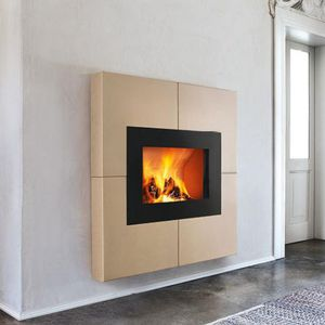 contemporary fireplace surround / earthenware
