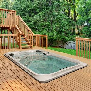 built-in swim spa