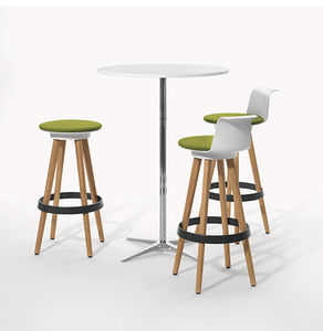 contemporary high bar table / MDF / metal / glass