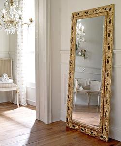 free-standing mirror / classic / rectangular / wooden