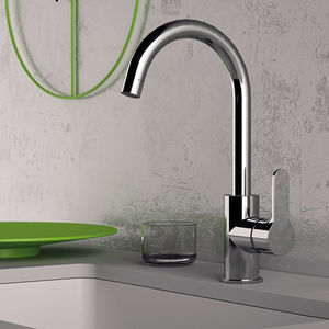 chrome-plated brass mixer tap / kitchen / 1-hole