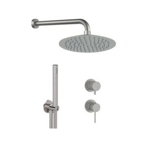 wall-mounted shower set / contemporary / commercial / with hand shower