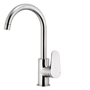 chromed metal mixer tap