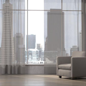 patterned sheer curtain fabric / Trevira CS® / polyester / acoustic