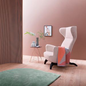 original design armchair / fabric / with headrest / with armrests
