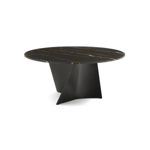 contemporary table / marble / Cristalplant® / composite material