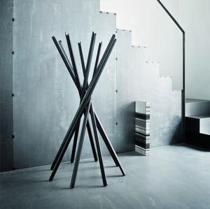 floor coat rack / contemporary / oak / contract