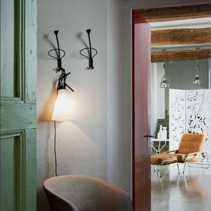 wall-mounted coat rack / contemporary / painted steel / by Enzo Mari