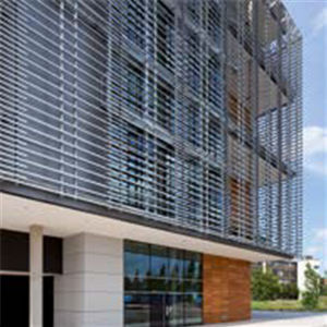 particle board solar shading / for facade / vertical