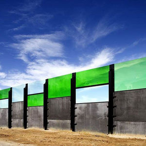 noise barrier with modular panels / methacrylate / polycarbonate / for roads