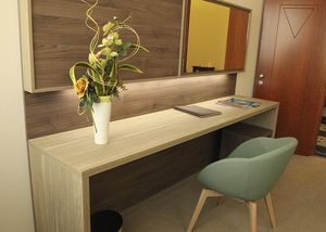 hotel sideboard table / contemporary / wooden / wooden base
