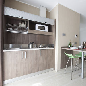 contemporary kitchen / melamine / modular / hidden