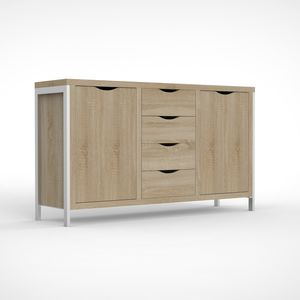 contemporary sideboard / wooden / metal / modular
