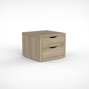 contemporary bedside table / wooden / wooden base / square