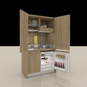 wooden commercial kitchen