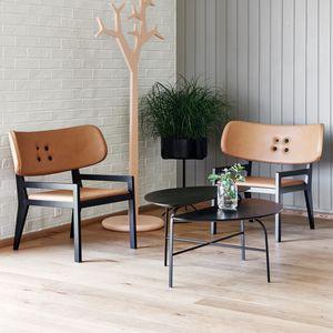 Scandinavian design armchair / oak / solid wood