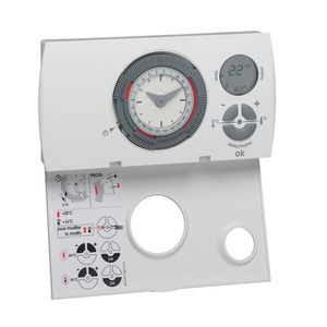 heating thermostat / programmable / mechanical / wall-mounted