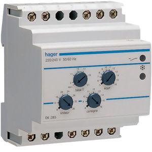 DIN rail heating controller