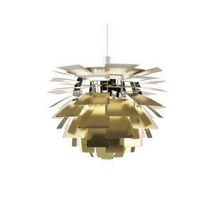 pendant lamp / contemporary / chrome steel / aluminum