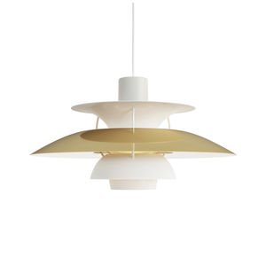 pendant lamp / contemporary / aluminum / white