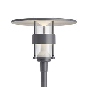 urban lamppost / contemporary / stainless steel / glass