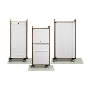 office service trolley / commercial / wood veneer