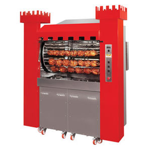 commercial oven / wood-burning / free-standing / rotisserie