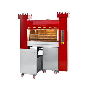 commercial oven / wood-burning / free-standing / rack
