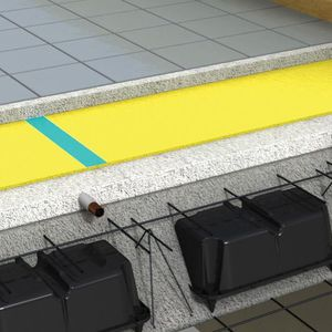 roll resilient underlay / polyethylene / insulated