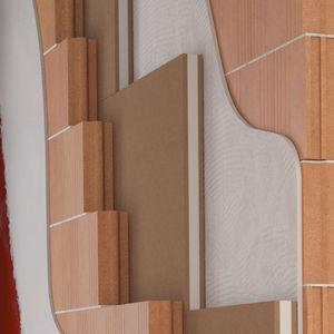 acoustic insulation / polypropylene / wood fiber / wall
