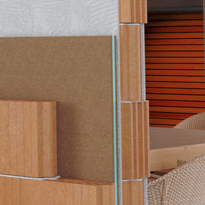 acoustic insulation / polyester / wood fiber / wall