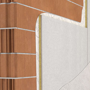 acoustic insulation / mineral wool / wall / panel
