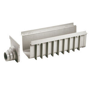 polypropylene drainage channel / modular / for public spaces / for swimming pools