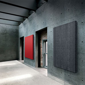 wall-mounted sound-absorbing panel / fabric / 3D / commercial