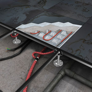 metal raised access floor / cement / high-resistance / radiant