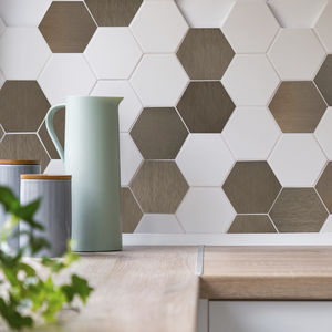 metal wallcovering / home / satin / textured