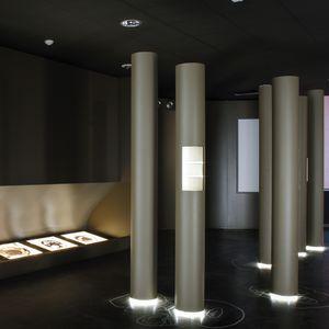 indoor tile / floor / metal / rectangular
